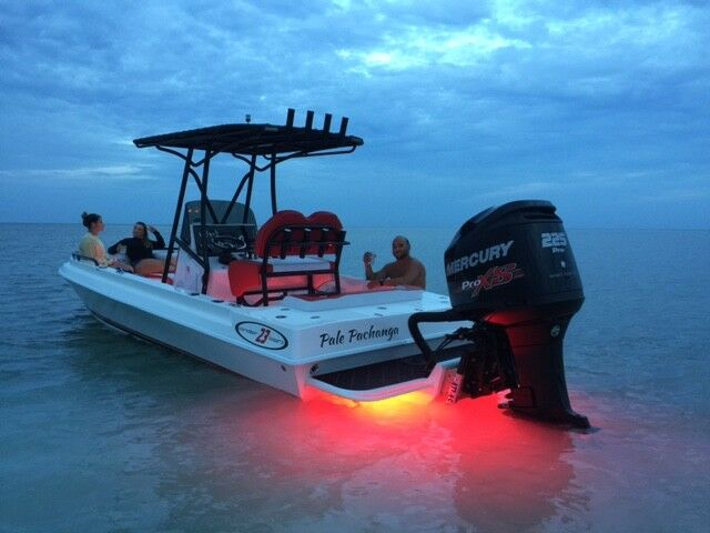 Red Rty Led Boat Drain Plug Light 1200 Lumen Rated Boat