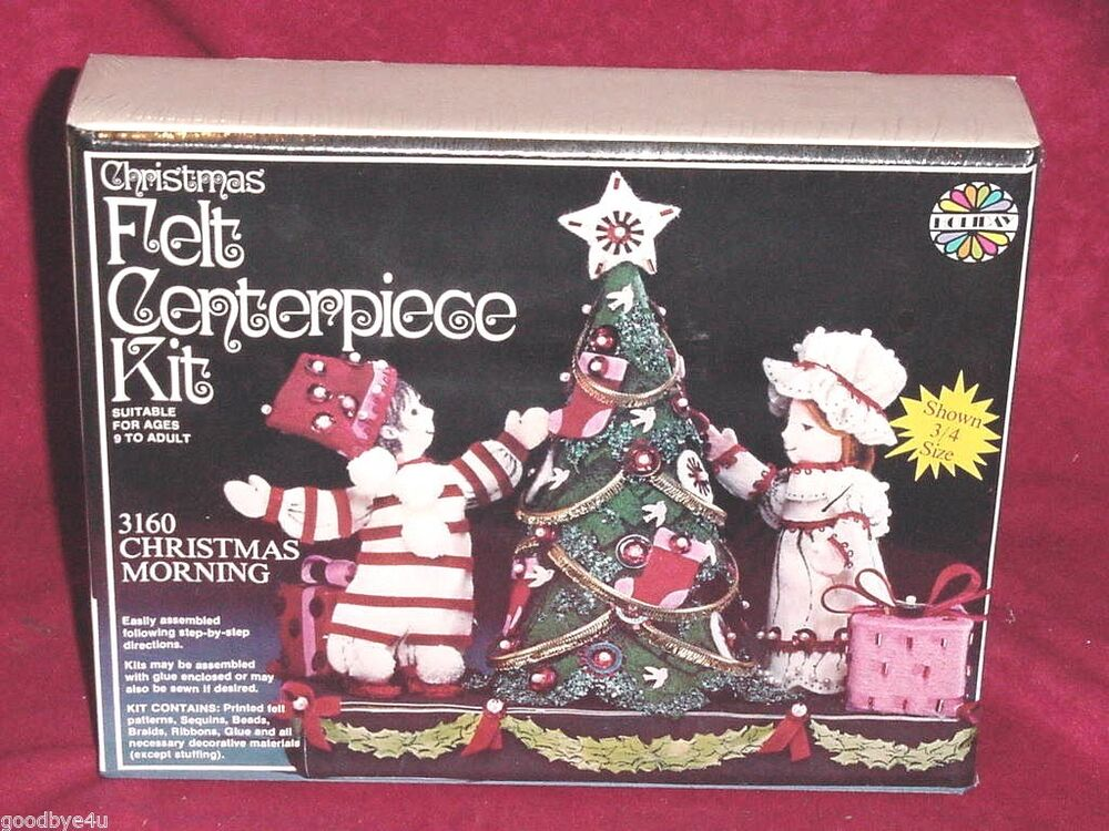 Vintage walco holiday christmas morning felt