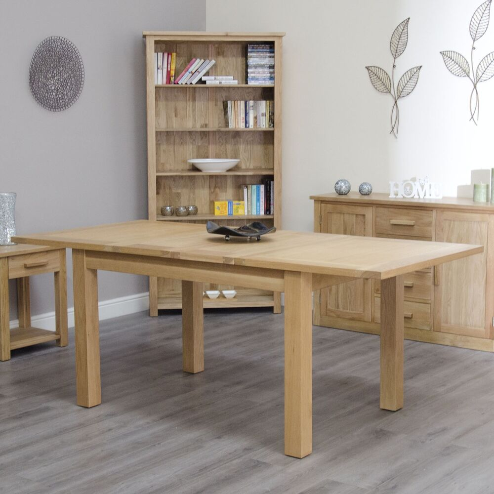 arden solid oak dining room furniture twin extending dining table