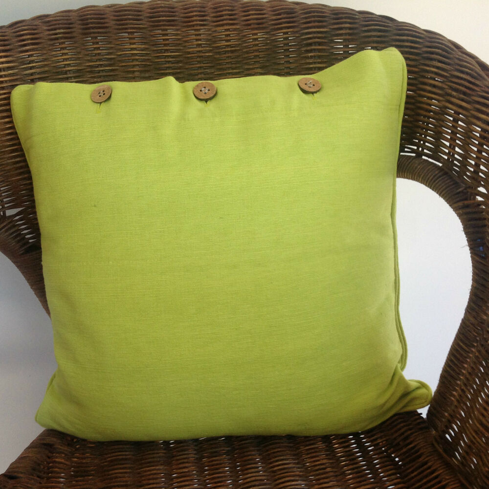 Cushion Cover Lime Green Scatter Bright Beach Decorator