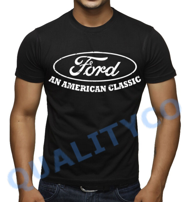 Ford an american classic black t shirt beast biker muscle for All american classic shirt