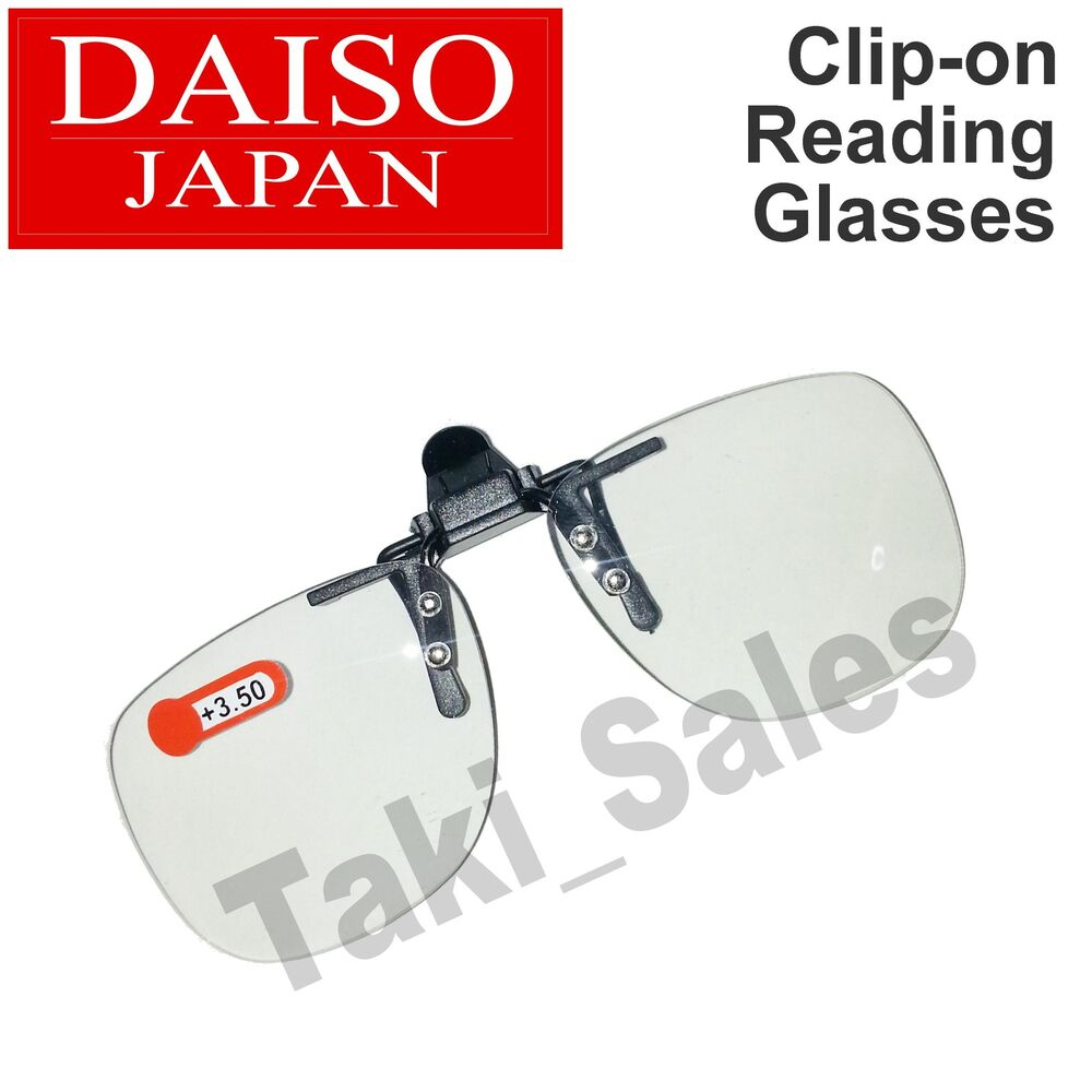 96ee0ca23be Details about Daiso Japan Optical Clip-on Flip-up Magnifying Reading Glasses  (1.0 1.5 2.0 etc)