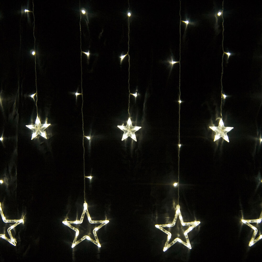 12 Twinkling Stars Fairy String Lights Curtain 168 Led For