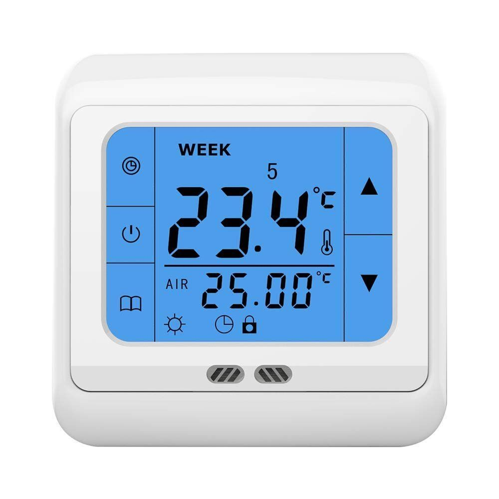 16a digital led touchscreen thermostat fu bodenheizung bodenf hle raumthermostat ebay. Black Bedroom Furniture Sets. Home Design Ideas