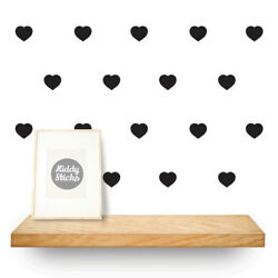 Heart Shaped Wall Stickers / Decals 3 Sizes & 15 Colours Available
