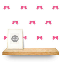 Bow Shaped Wall Stickers  15 Colours Available UK seller  Free P&P