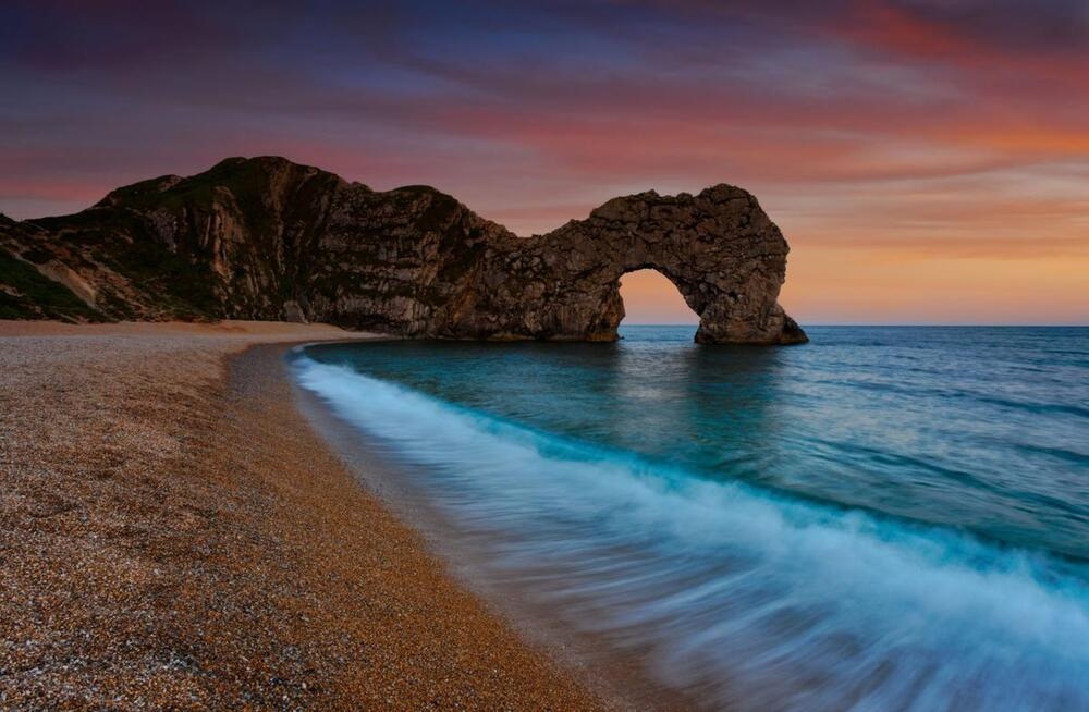 Durdle Door Dorset Beach Landscape Water Scene Art Canvas Poster Print Sea Surf & Durdle Door: Art | eBay pezcame.com