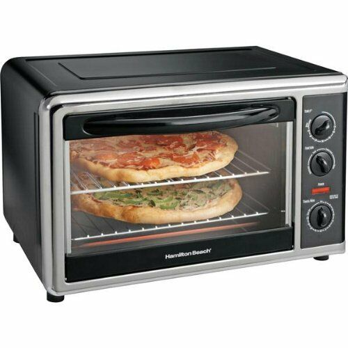 Largest Capacity Countertop Convection Oven : Countertop Oven Large capacity Hamilton Beach Oven w/ Rotisserie ...