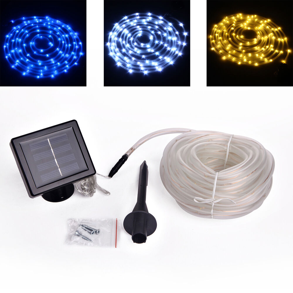 33ft 10m 100leds Outdoor Solar Powered Led Light Strip