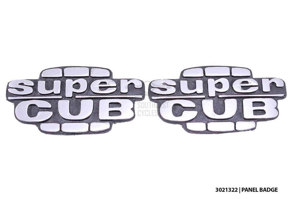new side cover panel sticker emblem super cub badge logo