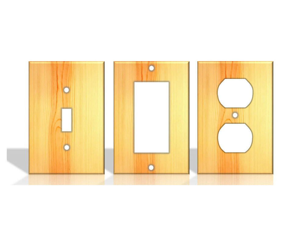 Pine wood pattern light switch covers home decor outlet for Home decor outlet 63125