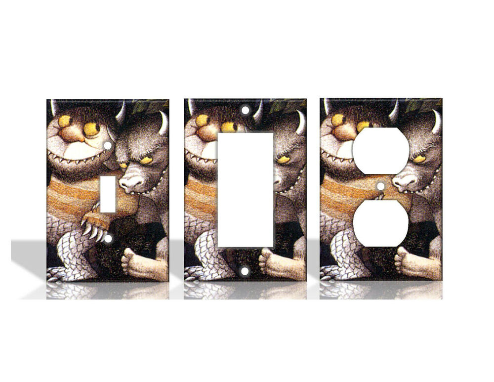 Where the wild things are light switch covers home decor for Household decorative items