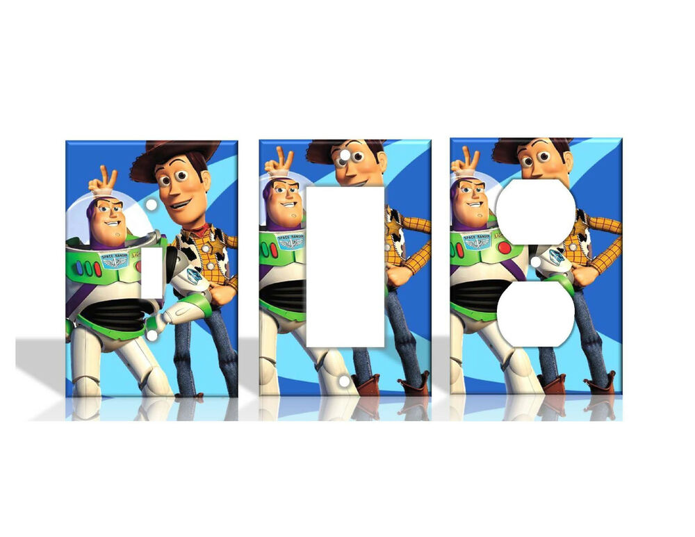 Woody & Buzz Toy Story Disney Light Switch Covers Home