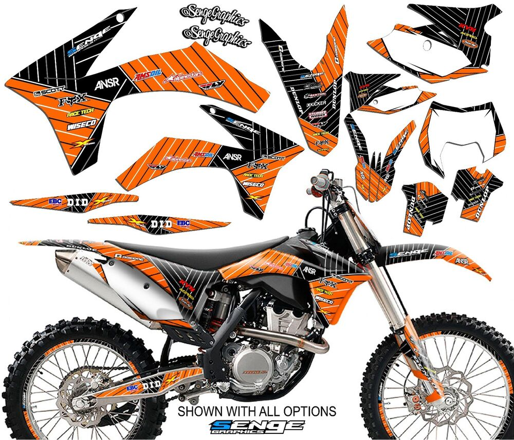 2008 2009 2010 2011 ktm exc excf 125 250 300 450 530 graphics kit deco decals ebay