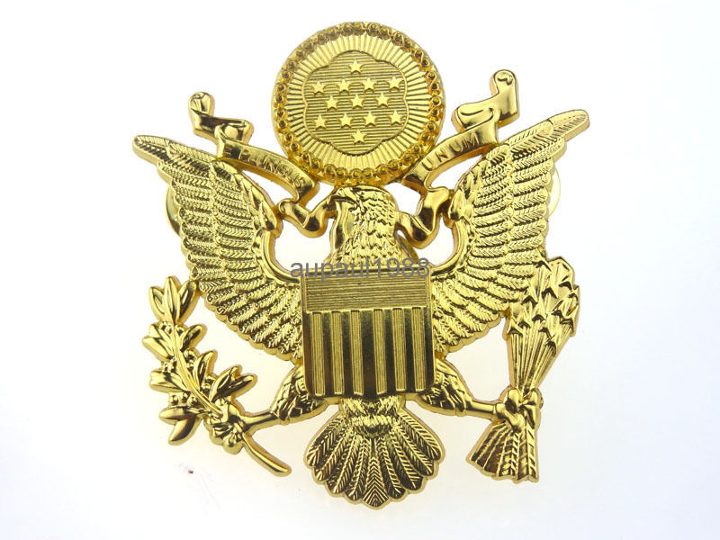 WWII US ARMY OFFICER CAP EAGLE BADGE INSIGNIA HAT CAP ...
