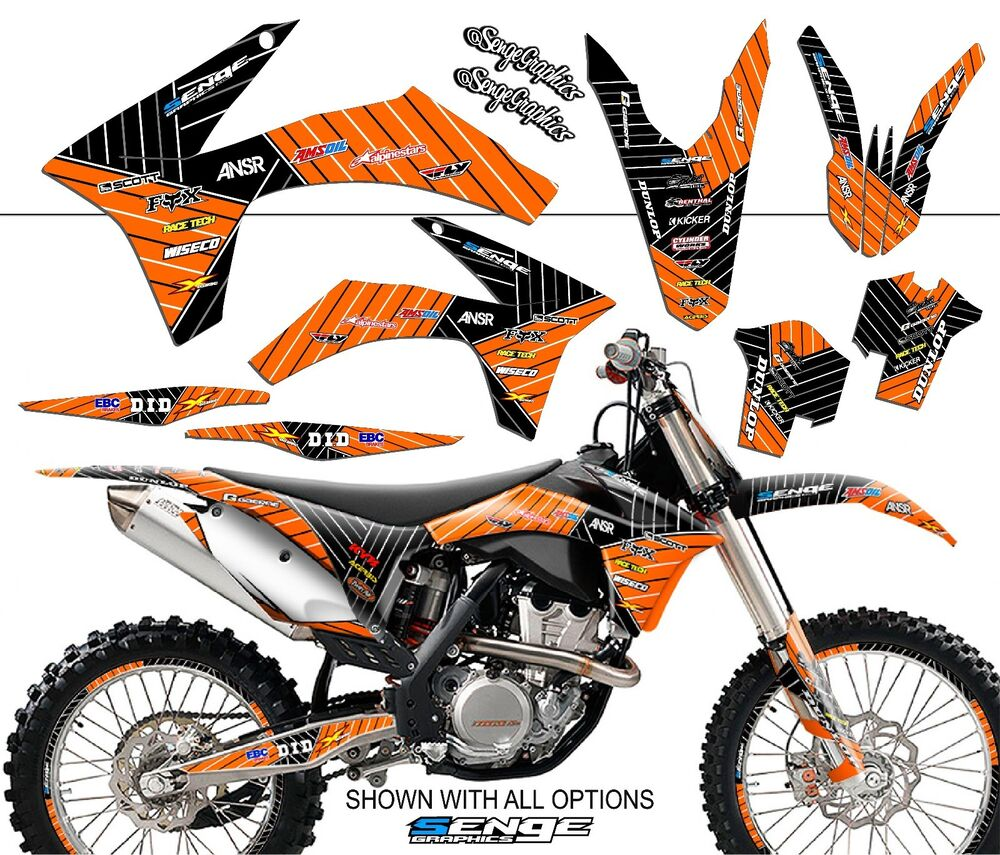 2012 2013 ktm exc exc f excf xcfw 350 500 graphics kit for Sticker deco