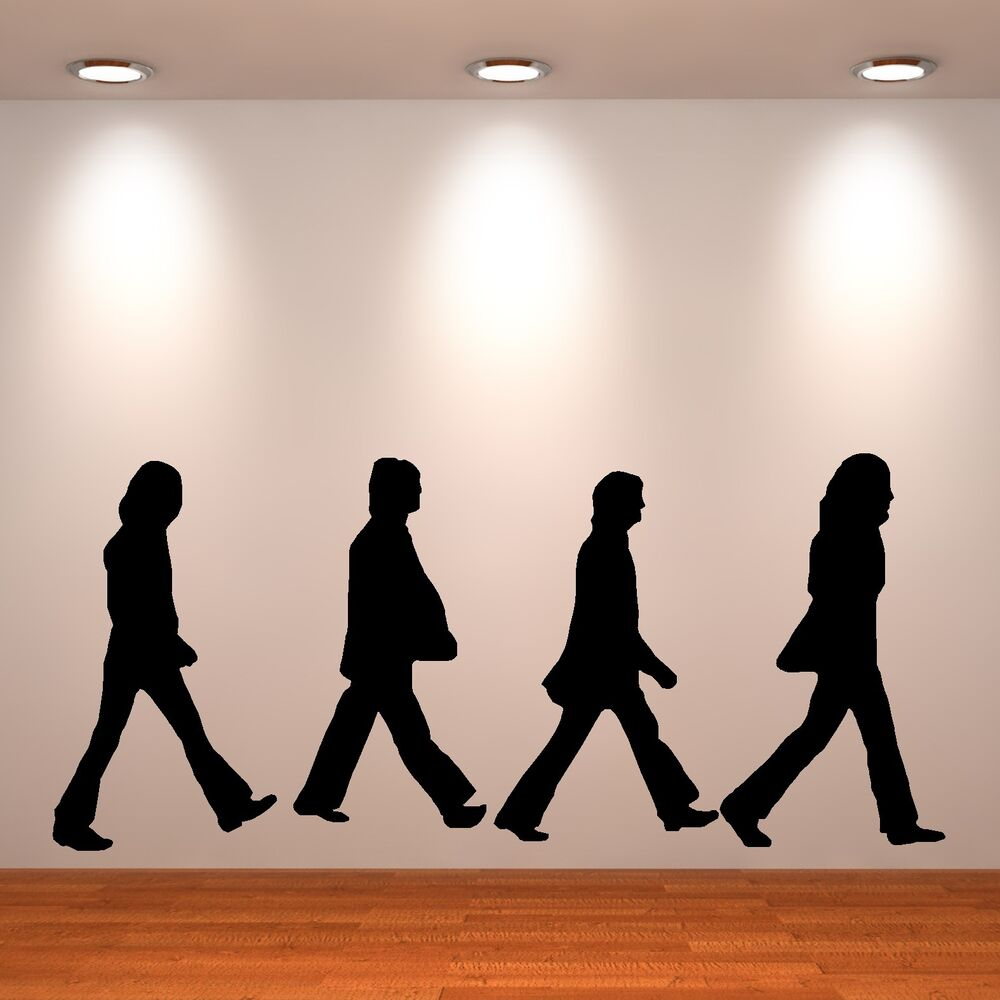 The beatles wall art sticker room decal abbey road for Abbey road wall mural