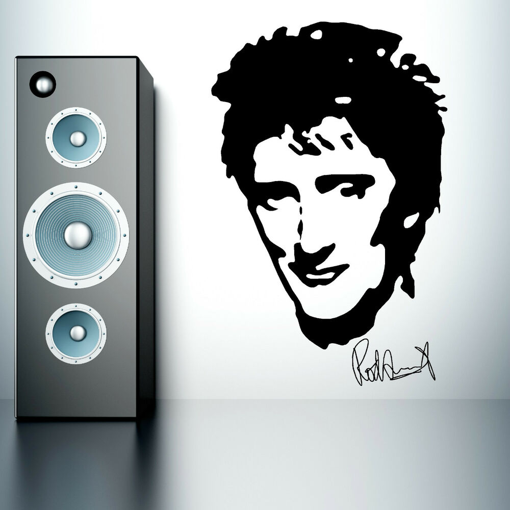 Rod Stewart Music Vinyl Wall Art Sticker Mural Decal Portrait Ebay