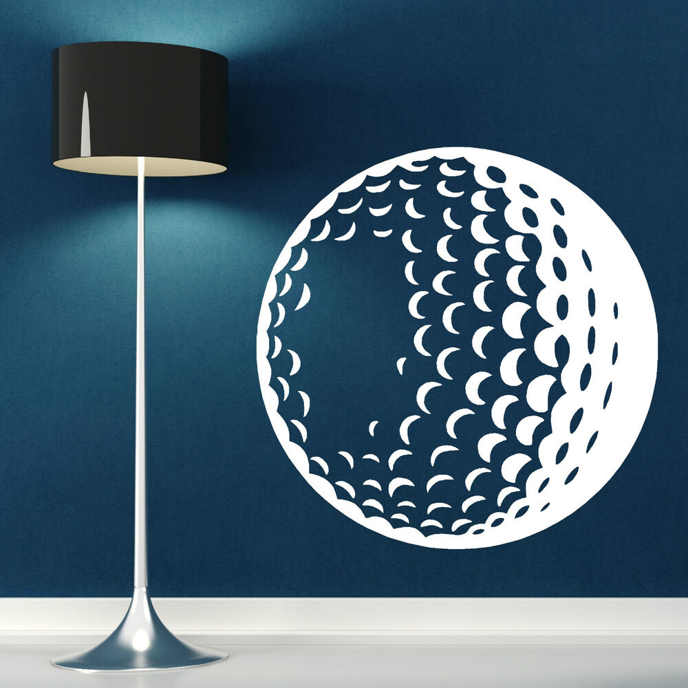 golf ball vinyl wall art sticker decal sports theme. Black Bedroom Furniture Sets. Home Design Ideas