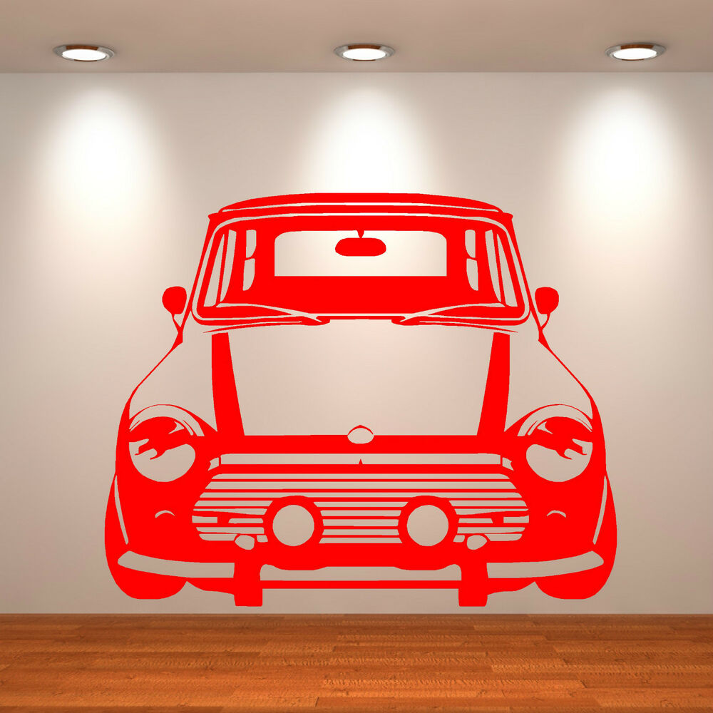 Classic mini cooper vinyl wall art car sticker room decal for Space decals