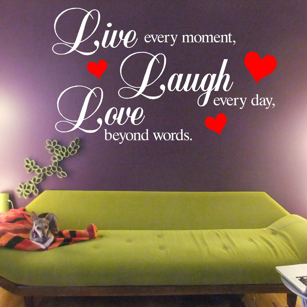 Everyday Love Quotes: Live Every Moment Laugh Every Day Love Beyond Words VINYL