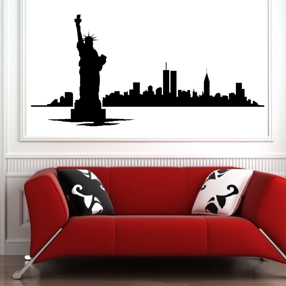 wall decals for bedroom new york skyline vinyl wall room sticker decal bedroom 17734
