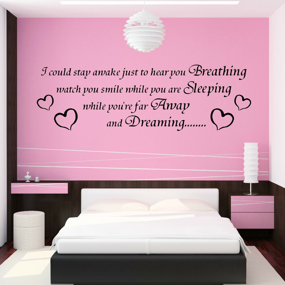 Wall Art Stickers Song Lyrics : Aerosmith song lyrics i could stay awake vinyl wall art