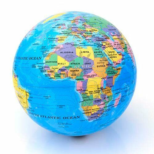 World map globe magic executive revolving rotating desk children office toy bed ebay - Globe main office address ...
