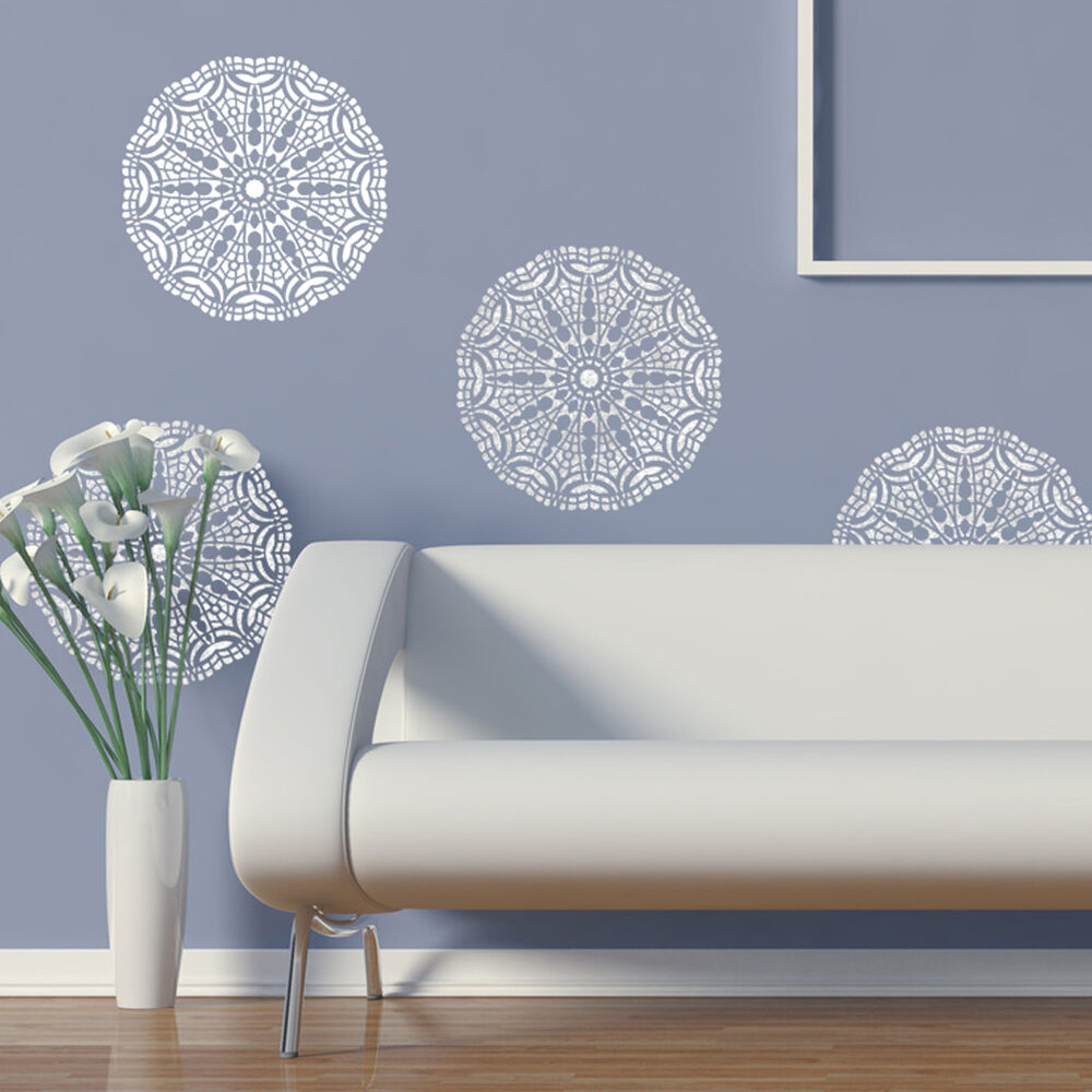 Wall lace decorative stencil talia for home painting - Wall painting stencils for living room ...