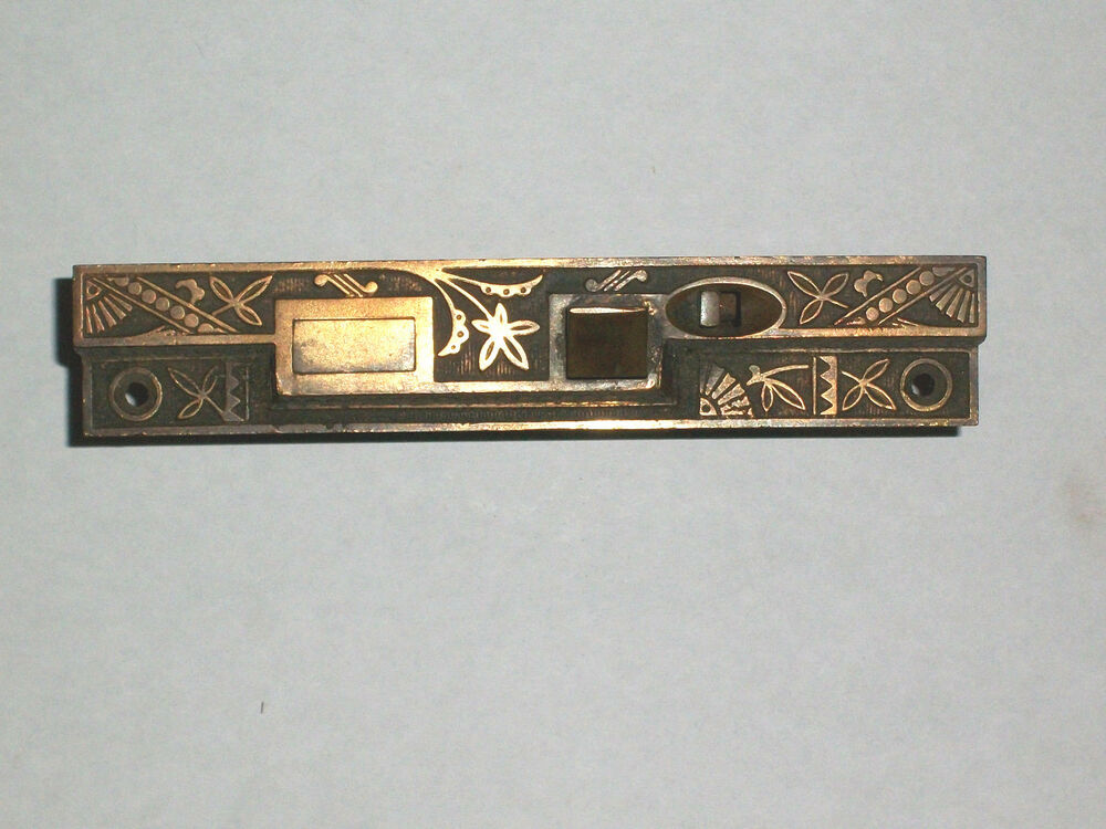 Antique Eastlake Victorian Era Entry Moritse Door Lock 6 3