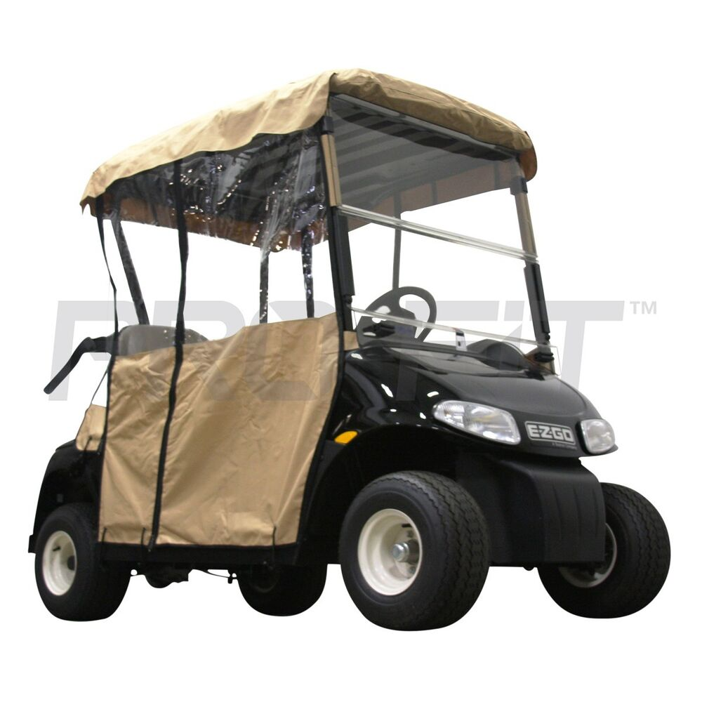 2 passenger enclosure for ezgo rxv golf carts in tan. Black Bedroom Furniture Sets. Home Design Ideas