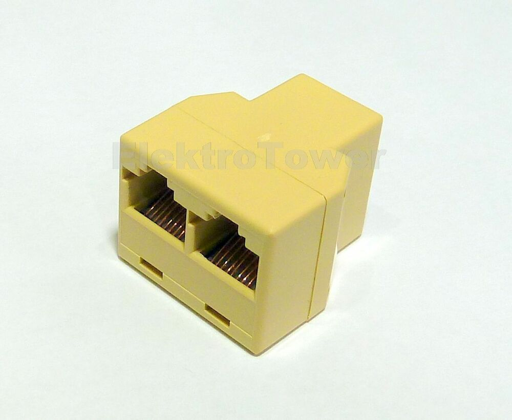 rj45 t y adapter kupplung splitter verteiler netzwerk. Black Bedroom Furniture Sets. Home Design Ideas