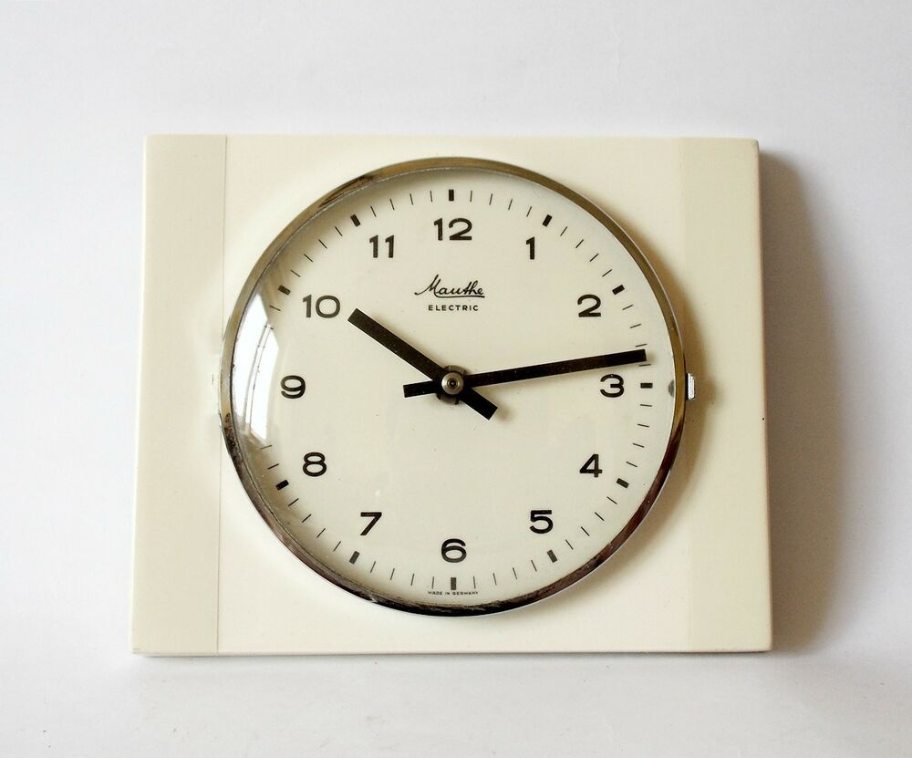 Vintage Pop Art Style 1960s Ceramic Kitchen Wall Clock