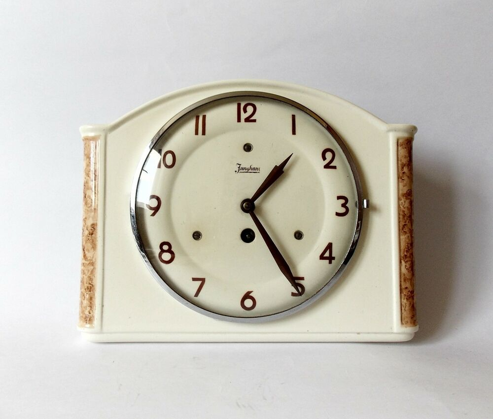 Vintage Art Deco Style 1930s Ceramic Kitchen Wall Clock