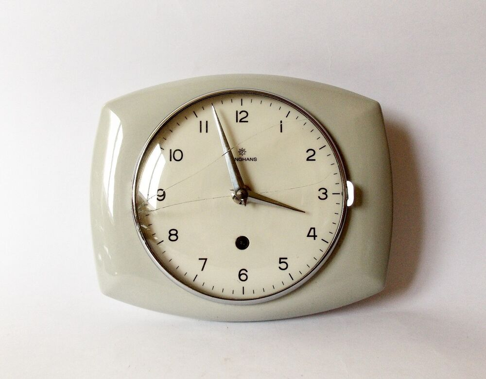 Vintage Art Deco style 1960s Ceramic Kitchen Wall clock ...