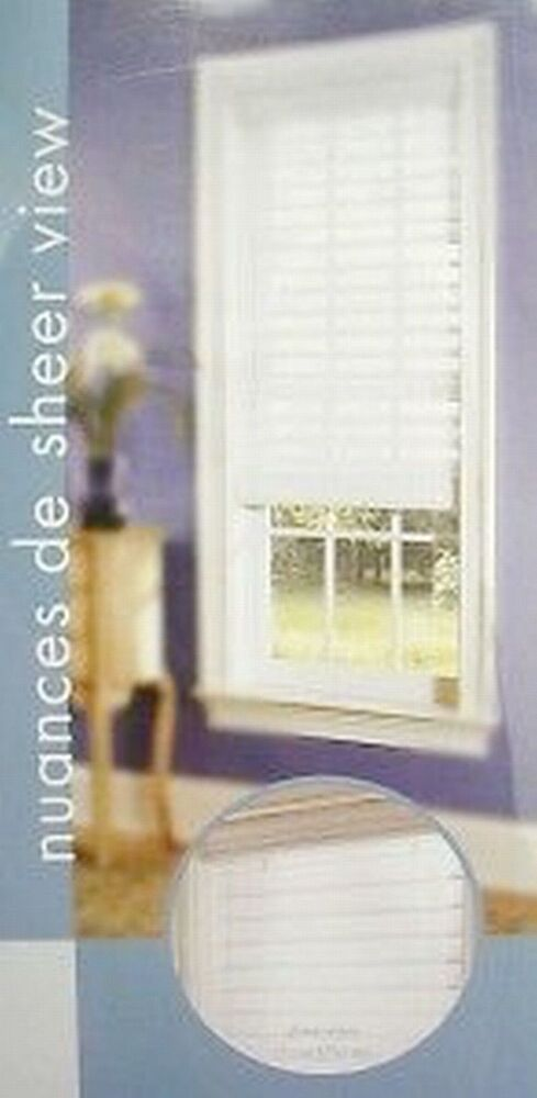 New White Sheerview Window Shading Blinds 48 Quot 52 Quot 59 Quot 72