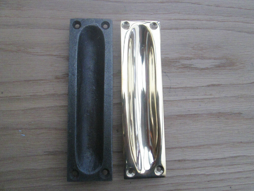 Flush Recessed Sliding Door Inset Pull Handle Ebay