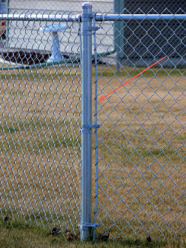 Chain link fence tension bars for foot high