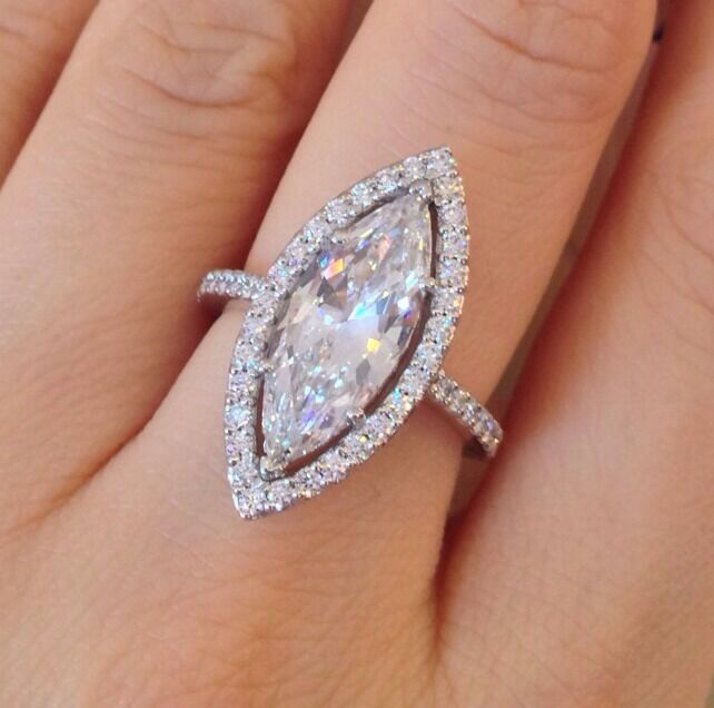 marquise wedding rings 2 69 ct f vvs2 marquise ring in platinum halo 5722