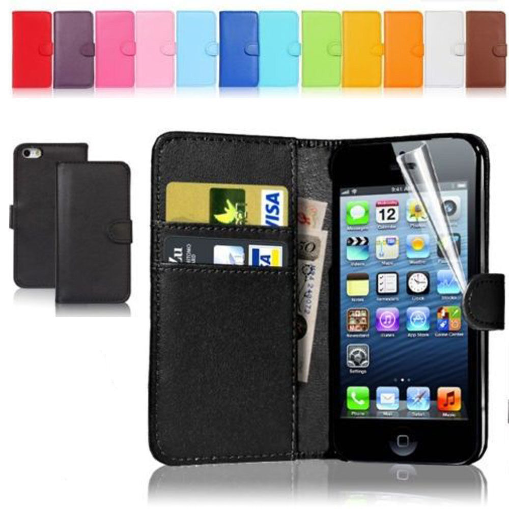 new wallet flip pu leather phone case cover for iphone samsung lg ebay. Black Bedroom Furniture Sets. Home Design Ideas
