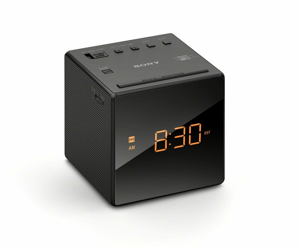 sony icfc1 alarm clock radio black new free shipping ebay. Black Bedroom Furniture Sets. Home Design Ideas