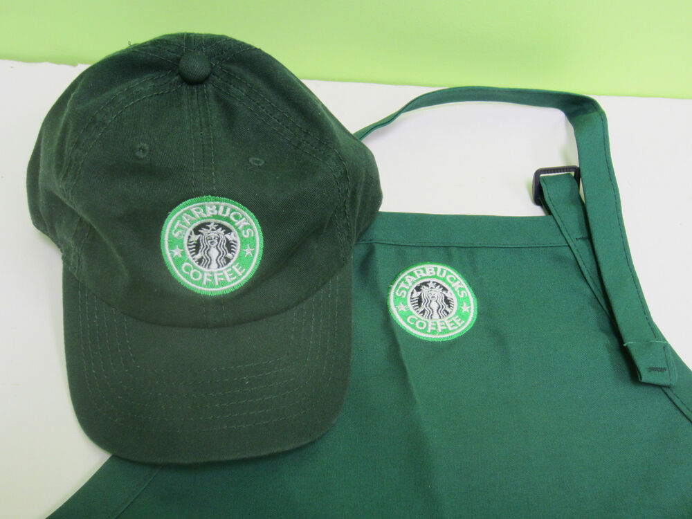 Starbucks Barista Apron And Hat Set Both Adjust One Size