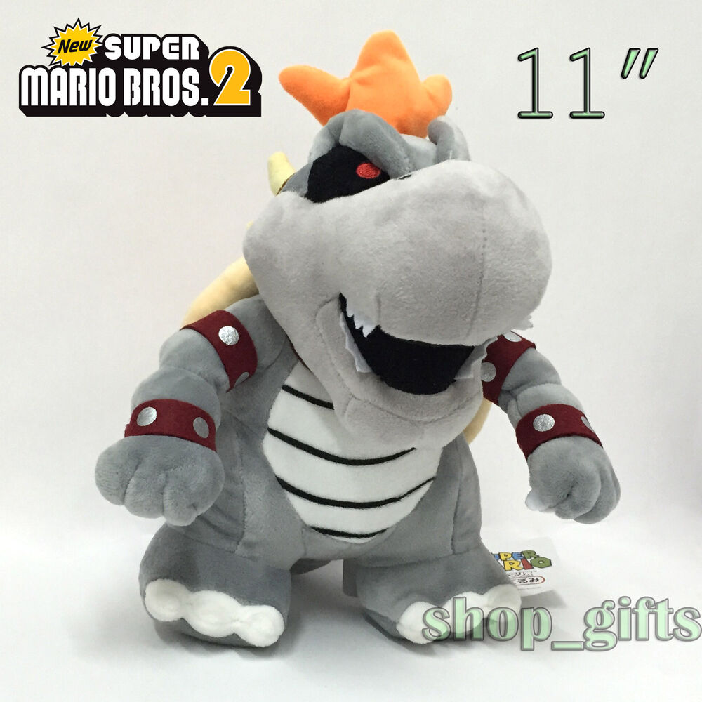 New Super Mario Bros. 2 Dry Bowser Plush Soft Toy Stuffed ...