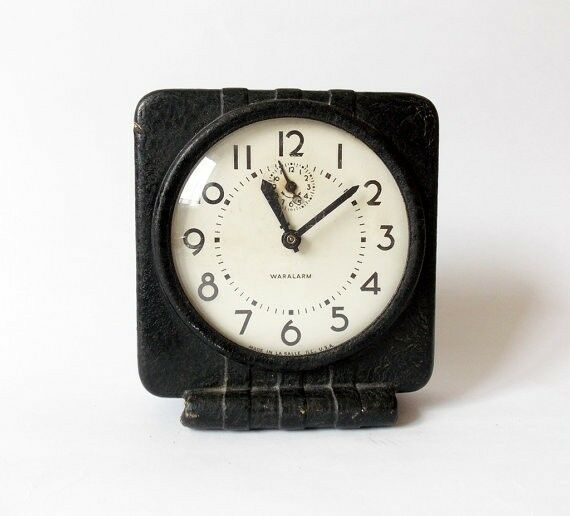 Rare Antique World War 2 Waralarm American Alarm Clock