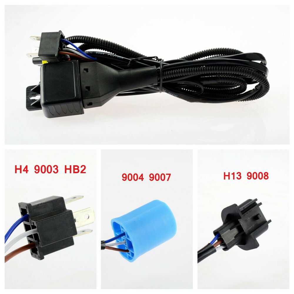 hid hi lo bi xenon relay harness wiring controller h4 9003. Black Bedroom Furniture Sets. Home Design Ideas