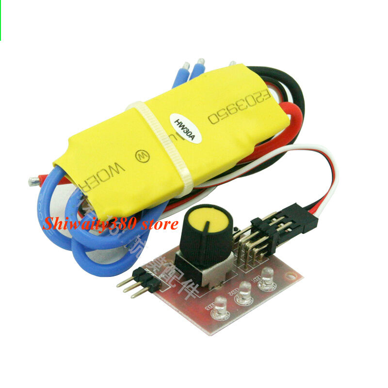30a 12v dc 3 phase brushless high power model motor speed for Three phase motor speed control