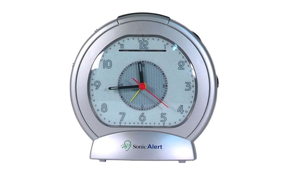 Sonic Boom SBA475ss Analog Loud Plus Vibrating Alarm Clock ...