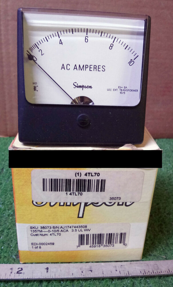 Simpson Analog Meter : New simpson tl analog panel meter make offer