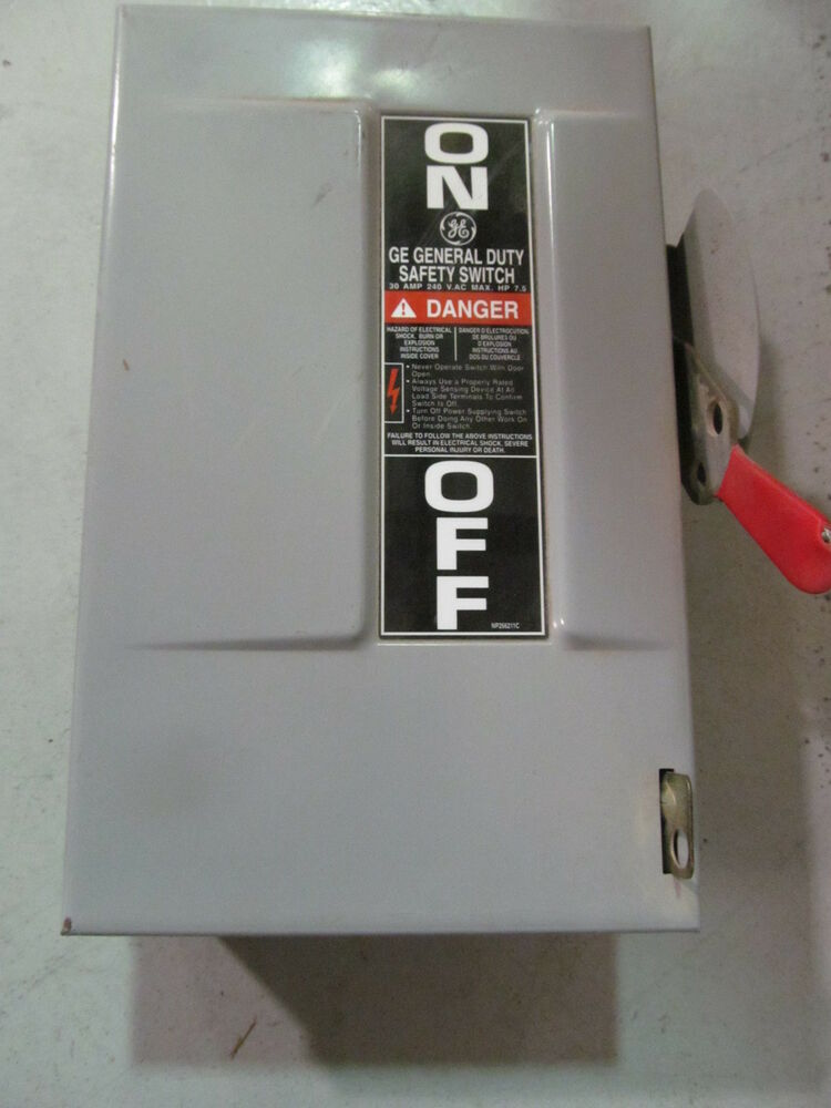Ge General Electric Safety Switch 30 Amp 240 Volt Tgn3321