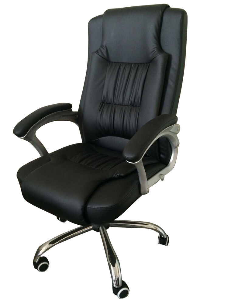 High Back Leather Executive fice Desk puter Chair w